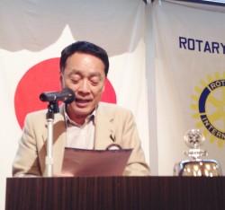 年度計画発表 ロータリー財団・米山記念奨学委員会 村上 倫行 委員長